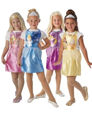 Set of 36 Disney Princesses costumes for girls