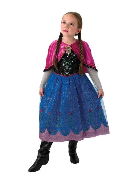 Fato de Anna Frozen musical para menina - Frozen