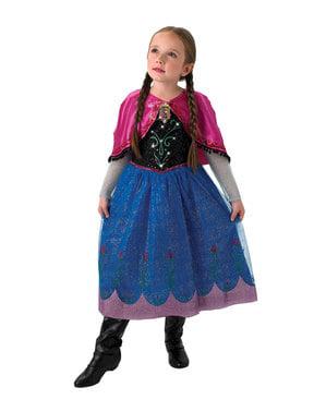 Anna Kostüm mit Musik für Mädchen - Die Eiskönigin Frozen