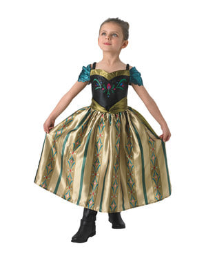 लड़कियों के लिए अन्ना फ्रोजन कोरोनेशन पोशाक - फ्रोजन