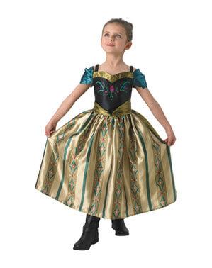 女の子のためのアンナフローズンコロネーション衣装 - フローズン