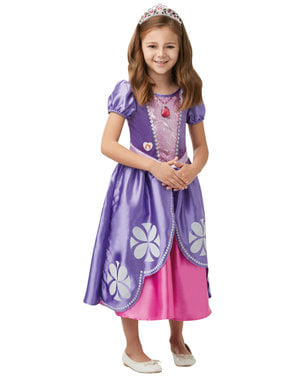 女の子のためのデラックスソフィア初の衣装