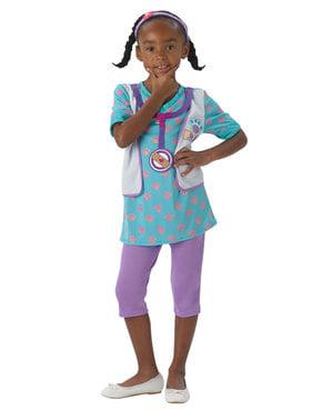 Fato de Doutora Brinquedos classic para menina