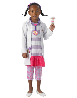 Fato de Doutora Brinquedos deluxe para menina