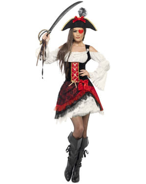 Sexy Corsair Kostyme for Dame