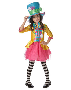 Costume da Cappellaio matto per bambina - Alice Nel Paese delle Meraviglie