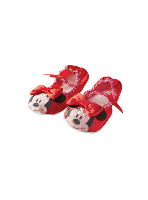 Ballerines Minnie Mouse rouges fille