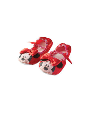 Red Minnie Mouse ballerina flats for girls