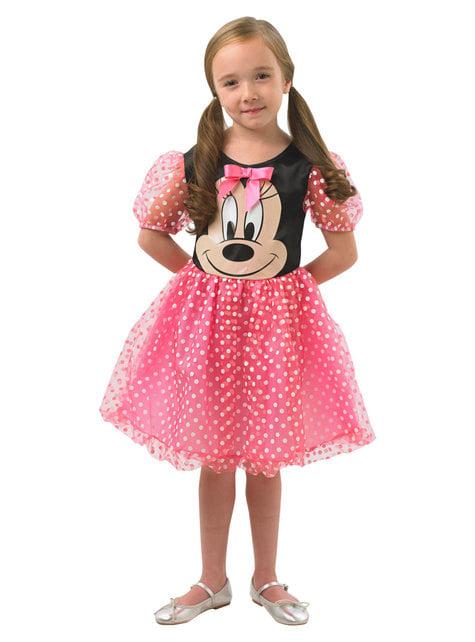 Disfraz de Minnie Mouse rosa para niña