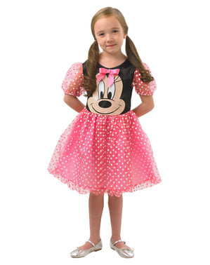 Fato de Minnie Mouse cor-de-rosa para menina