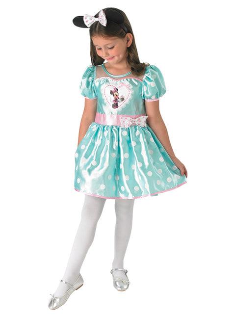 Blåt Minnie Mouse kostume til piger