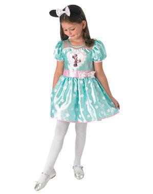 Fato de Minnie Mouse azul para menina
