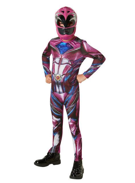 Kostium Power Ranger różowy dla dziewczynki - Power Rangers Movie