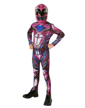 Fato de Power Ranger cor-de-rosa para menina - Power Rangers Movie