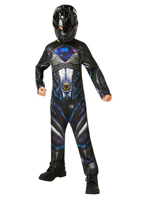 Fato de Power Ranger preto para menino - Power Rangers Movie