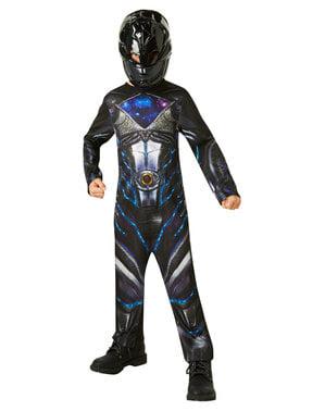 लड़कों के लिए ब्लैक पावर रेंजर पोशाक - पावर रेंजर्स मूवी