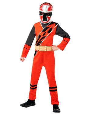 लड़कों के लिए रेड पावर रेंजर पोशाक - पावर रेंजर्स निंजा स्टील