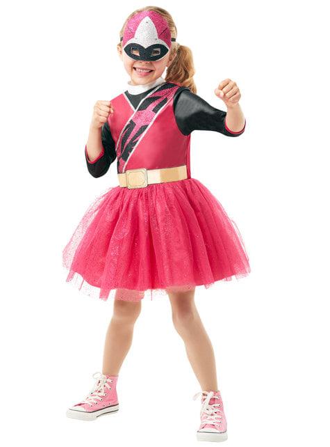 Power Ranger Kostüm rosa für Mädchen- Power Rangers Ninja Steel