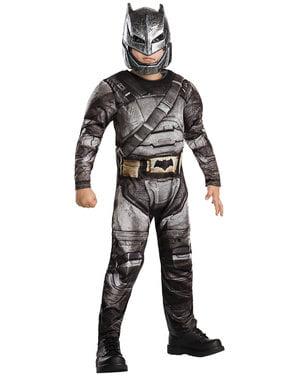Fato de Batman armadura deluxe para menino - Batman vs Super-Homem