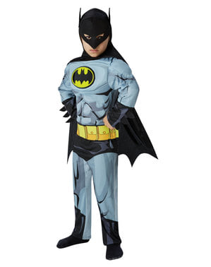 Muscular Batman costume for a boy - DC Comics