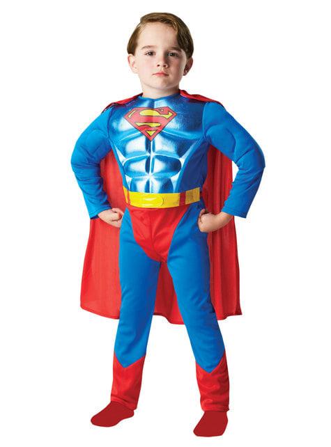 少年のためのメタリックスーパーマンコスチューム -  DCコミックス