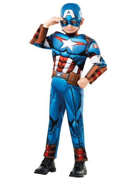 Disfraz de Capitán América deluxe para niño - Marvel