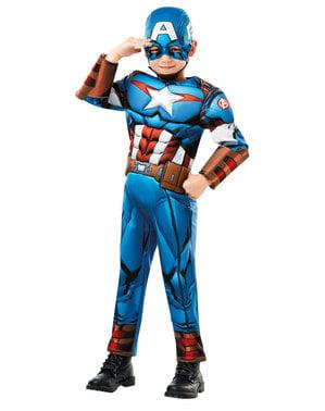 Kostum Deluxe Captain America untuk anak laki-laki - Marvel