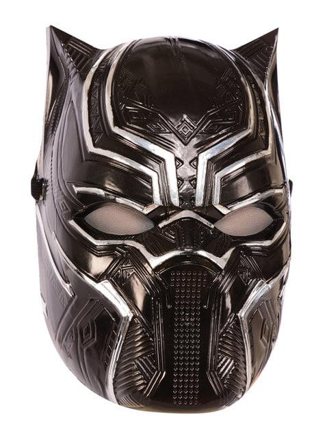 Máscara de Black Panther metalizada para niño