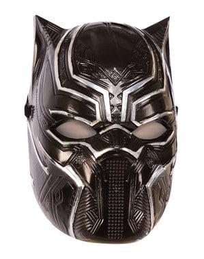 Topeng Black Panther Metallic untuk anak laki-laki