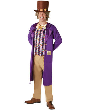 Erkekler için Willy Wonka kostümü - Charlie ve Çikolata Fabrikası