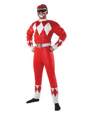 Kostium Power Ranger czerwony męski - Power Rangers Mighty Morphin