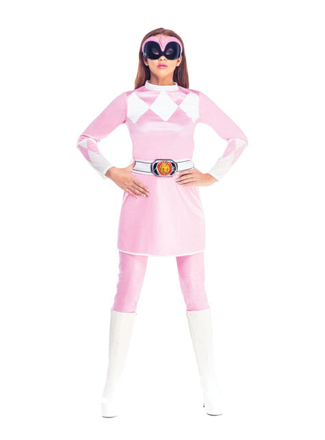 Rosa Power Ranger Kostüm für Damen - Power Rangers Mighty Morphin