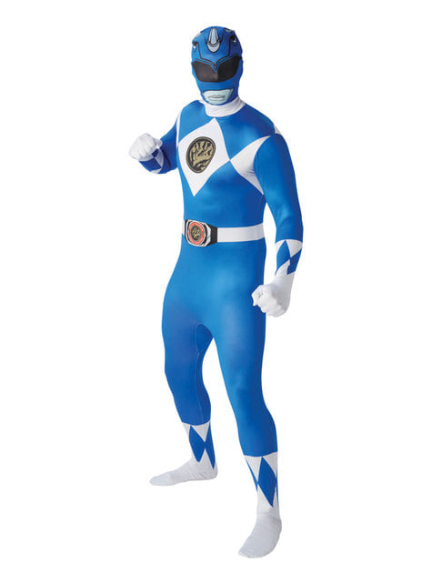 Blue second skin Power Ranger costume for men - Power Rangers Mighty Morphin