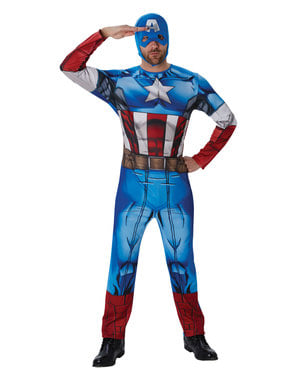 קפטן אמריקה תחפושת לגברים - מארוול