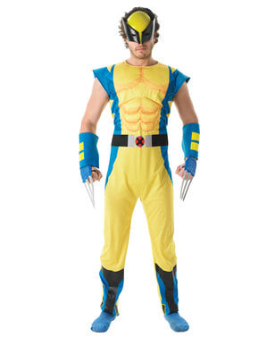 Fato de Wolverine deluxe para homem - X-Men