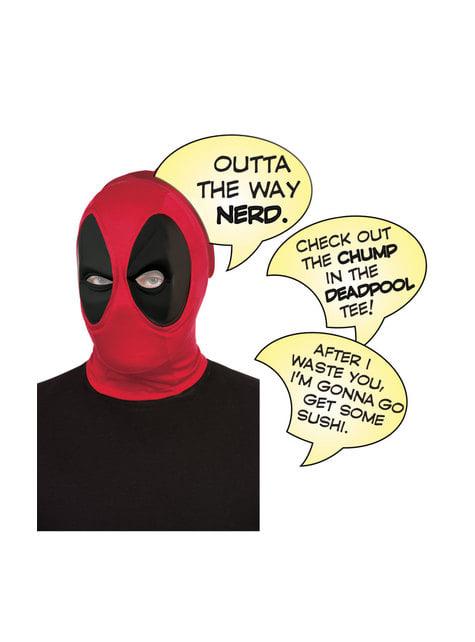 Máscara de Deadpool com comentários para adulto