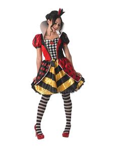Fato de Rainha de Copas para mulher - Alice no País das Maravilhas