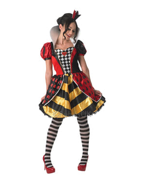 Hjerter Dronning kostyme til dame - Alice i Eventyrland