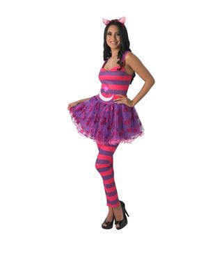 Cheshire Cat kostyme til dame - Alice i Eventyrland