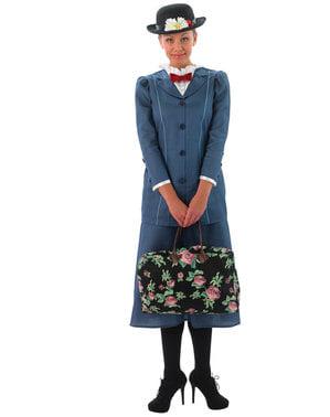 Maskeraddräkt Mary Poppins grå dam