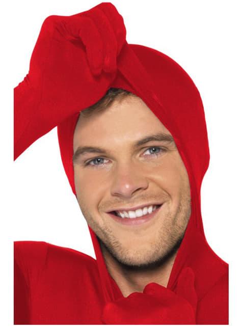 Disfraz Segunda Piel rojo - adulto