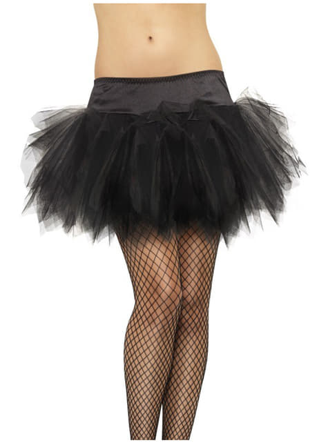 Klasická čierna baletná suknička pre ženy