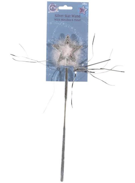 Baguette de fée avec une étoile argentée