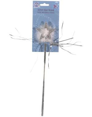 Varinha de fada com estrela prateada