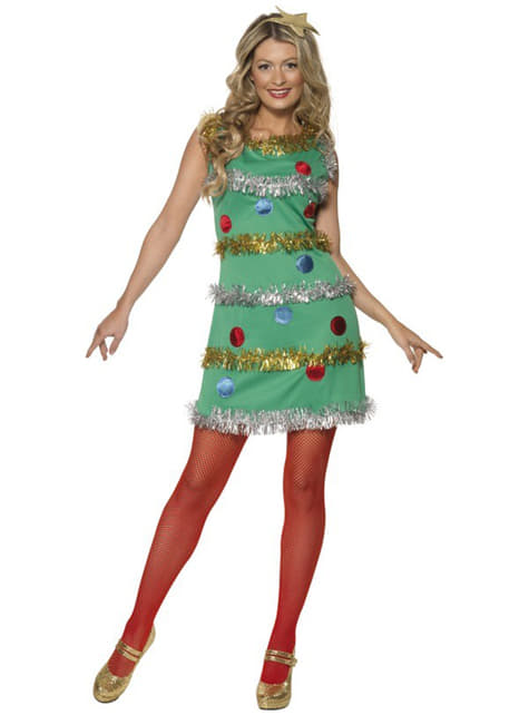Fato de árvore de Natal sexy para mulher