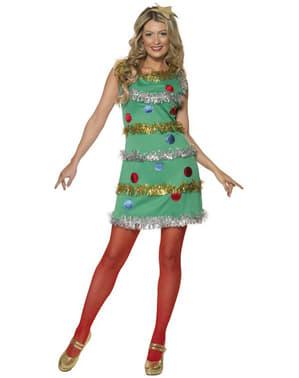 Costume albero di Natale sexy da donna
