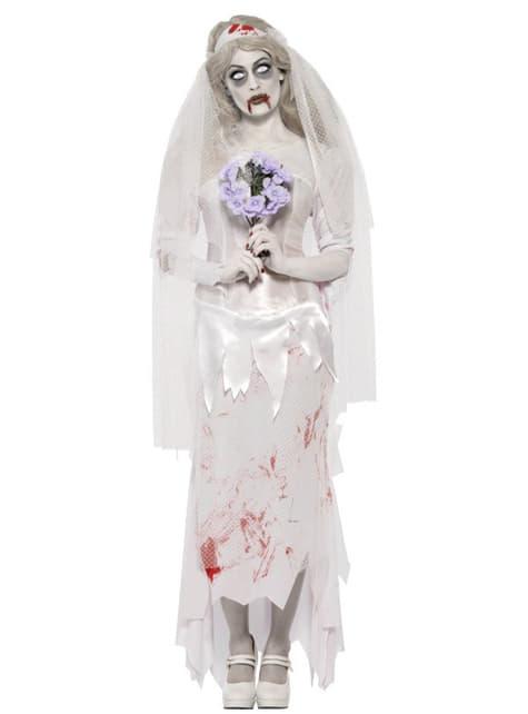 Fato de noiva zombie