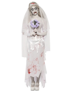 Disfarce de noiva zombie