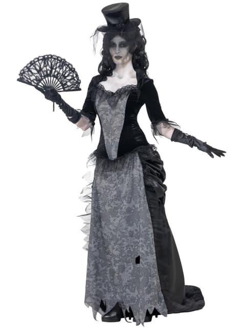 Disfraz de viuda negra de pueblo fantasma