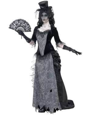 Costum de văduvă fantomă zombi pentru femei